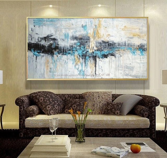 Abstract Art Painting Modern Wall Art Canvas Pictures Large Wall For Throughout Most Recently Released Abstract Living Room Wall Art (View 9 of 15)