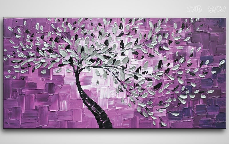 Abstract Art Tree Oil Painting (View 14 of 15)