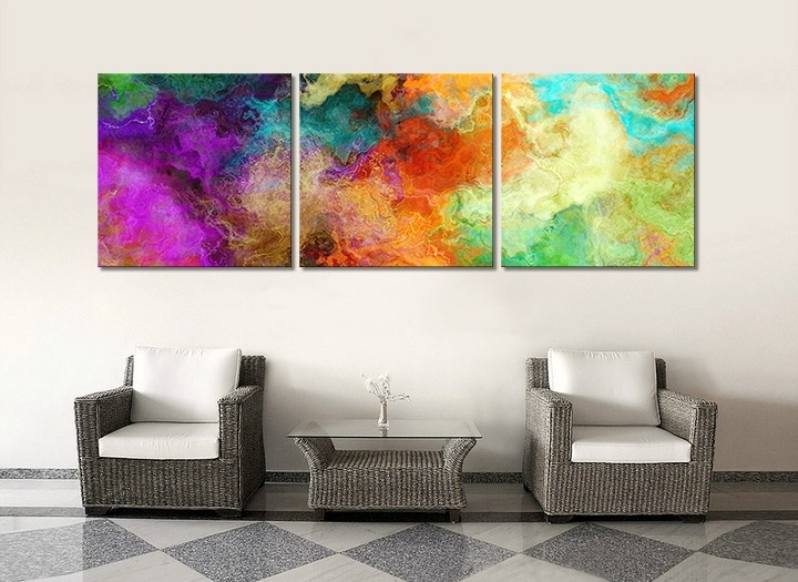 Abstract Art Triptych Painting For Sale – Mother Earth – In Most Recent Triptych Art For Sale (Gallery 1 of 15)
