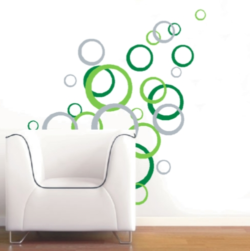 Abstract Art Wall Decal Pertaining To Fashionable Abstract Circles Wall Art Wall Decals Abstract Circles Vinyl Decals (View 3 of 15)