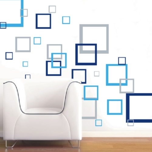 Abstract Art Wall Decal With Most Current Wall Decals Abstract Squares Vinyl Decals Wall Art Stickers Abstract (View 14 of 15)