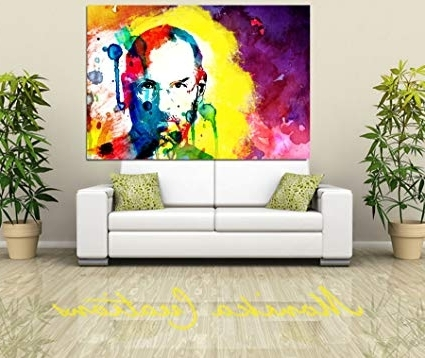 Abstract Art Wall Hangings With Regard To Most Recent Canvas Original Steve Jobs Art Digital Print, Portrait, Abstract Art (Gallery 3 of 15)