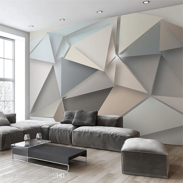 Abstract Art Wall Murals In Newest Custom Photo Wall Paper 3D Modern Tv Background Living Room Bedroom (View 3 of 15)
