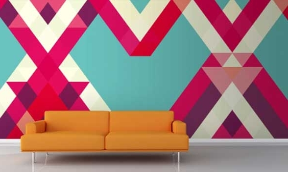 Abstract Art Wall Murals Throughout Well Known Abstract Wall Murals (Gallery 7 of 15)