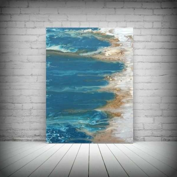 Abstract Beach Wall Art Pertaining To Preferred Abstract Beach Painting Beautiful Art Painting Acrylic Paintings (View 3 of 15)