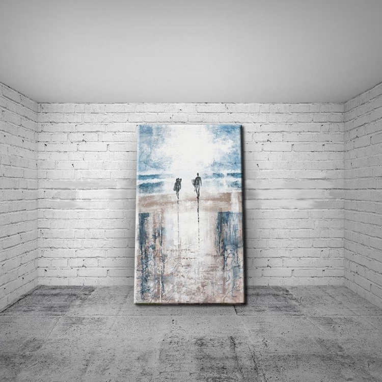 Abstract Beach Wall Art With Regard To Trendy Modern Art Abstract Landscape Abstract Beach Oil Painting On Canvas (View 2 of 15)