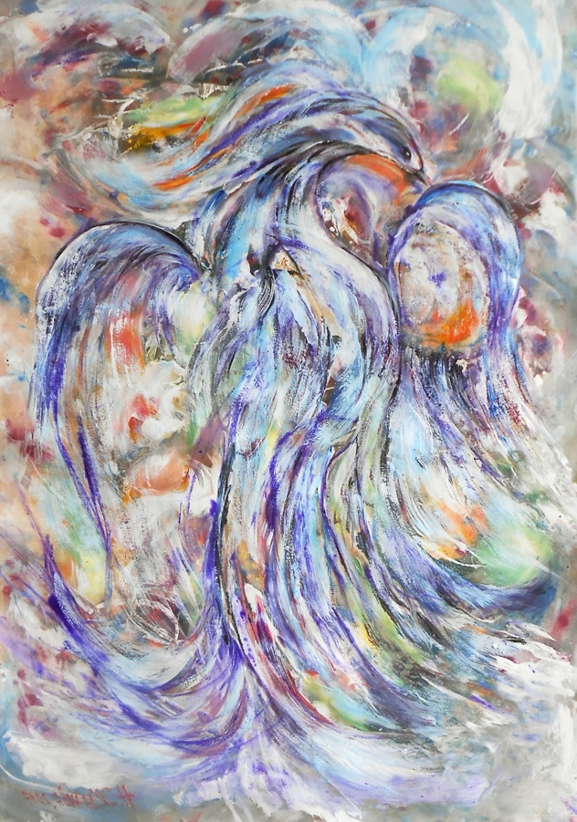 Abstract Bird Wall Art With Recent Blue Bird Paintings For Sale Abstract Bird Painting Abstract Bird (View 8 of 15)
