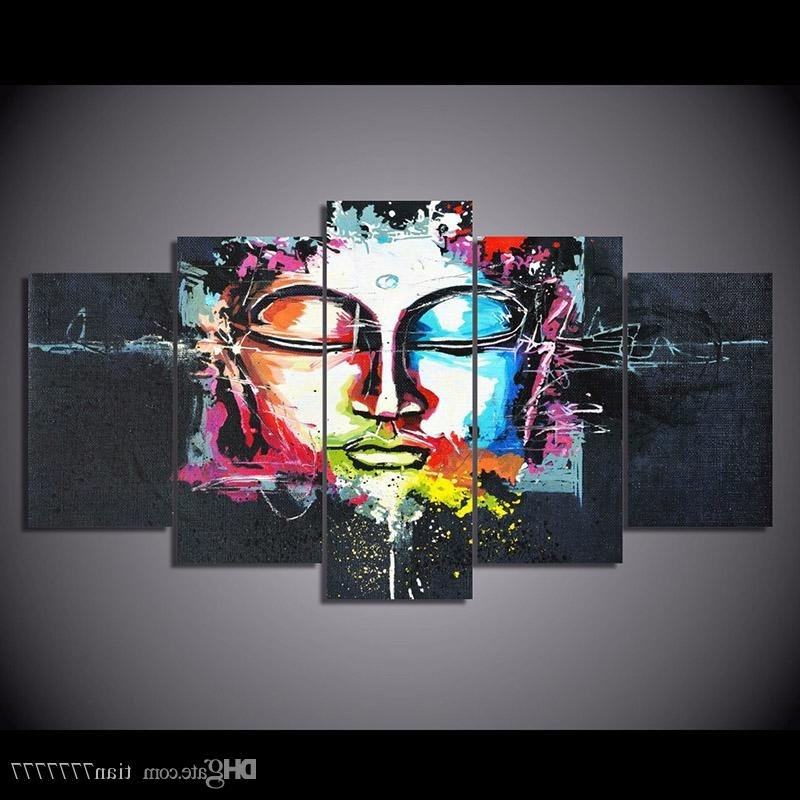 Abstract Buddha Wall Art Inside Current New Abstract Buddha Canvas Painting Unframed Hd Printed Modern Art (View 15 of 15)