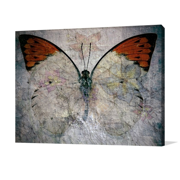 Abstract Butterfly Canvas Art Print (View 9 of 15)