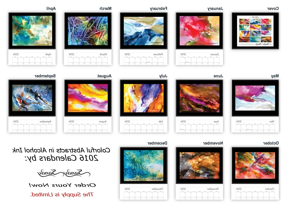 Abstract Calendar Art Wall Inside Current 2016 Wall Calendars – Featuringpaintingsspiritartist Sandy Sandy (View 6 of 15)