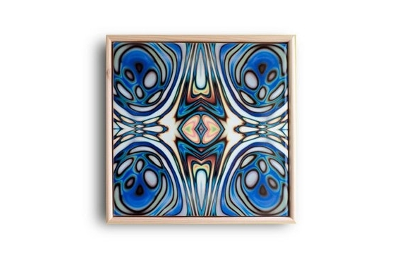 Abstract Ceramic Wall Art For Widely Used Ceramic Tile Art Abstract Wall Art Art Nouveau Style Blue (View 2 of 15)