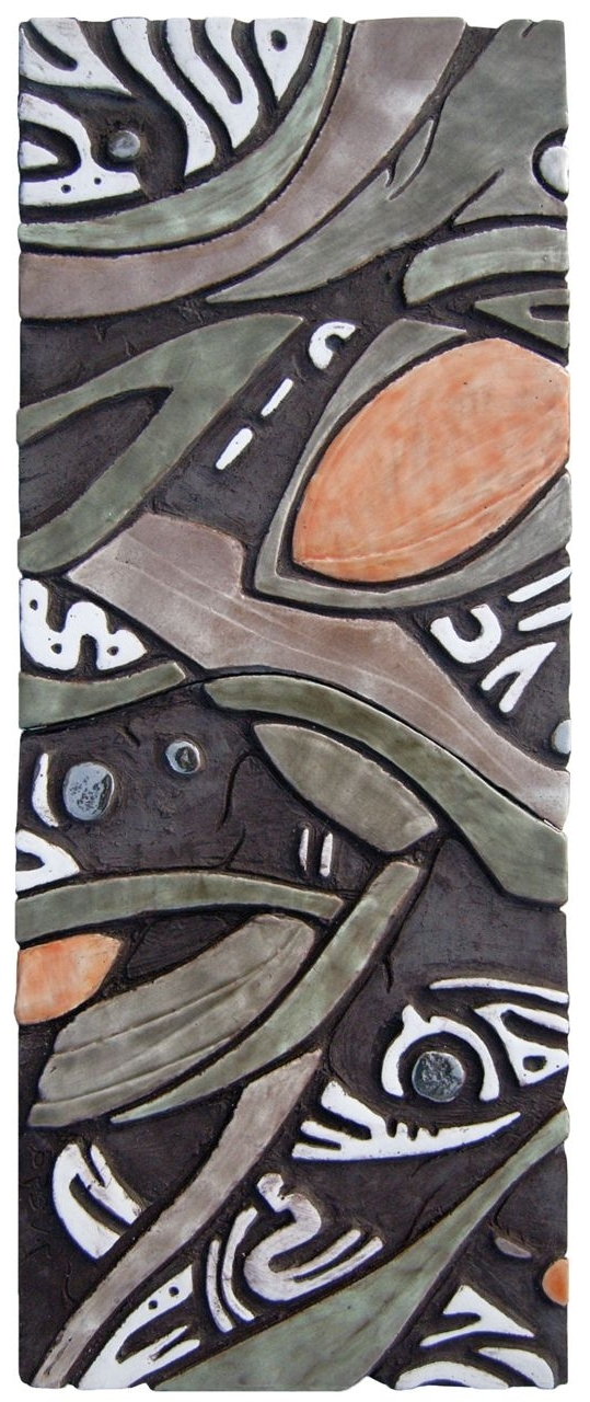 Abstract Ceramic Wall Art With Most Up To Date Ceramic Wall Art. Abstract Ceramic Wall Hanging. Www (View 6 of 15)