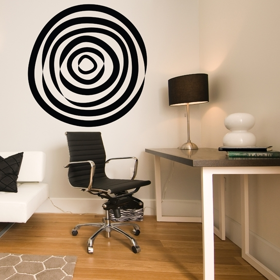 Abstract Circle Vinyl Wall Decal Intended For Newest Abstract Circles Wall Art (View 4 of 15)