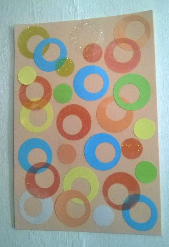 Abstract Circles Wall Art Pertaining To Fashionable Abstract Circles Wall Art Or Binder Cover Design (View 14 of 15)