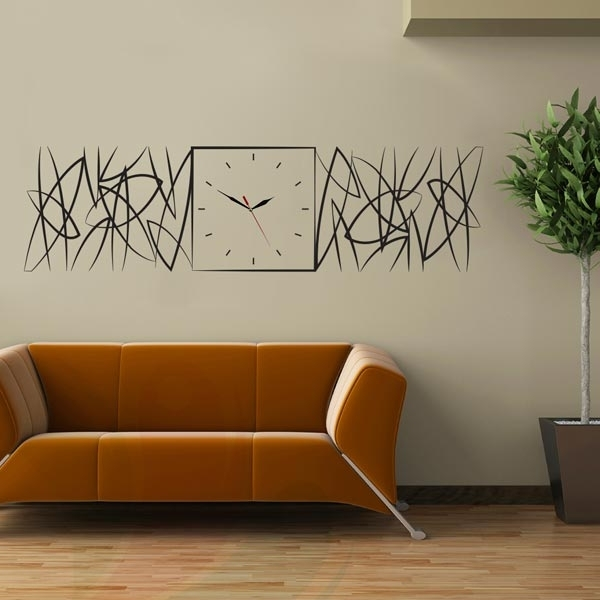 Abstract Clock Wall Art Intended For Famous Abstract Clock Wall Decal – Wall Decals And Wall Stickers Toronto (View 4 of 15)