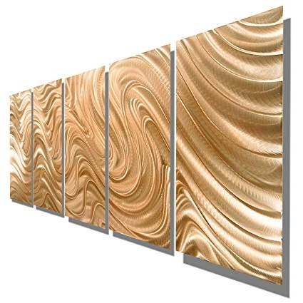 Abstract Copper Wall Art In Most Popular Amazon: Large Abstract Copper Metal Wall Art Sculpture – Multi (View 2 of 15)