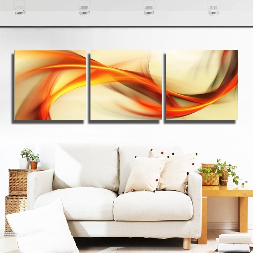Abstract Design Canvas Fabric Wall Art Painting For Home Sense Decor Within Most Current Abstract Fabric Wall Art (View 3 of 15)
