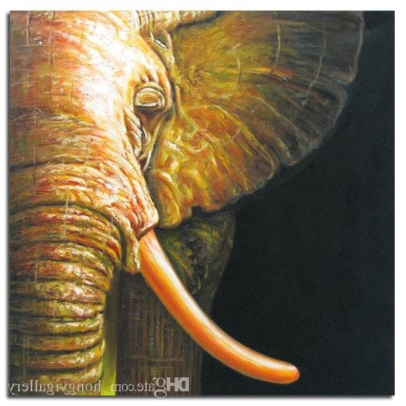 Abstract Elephant Wall Art For Widely Used Best Handpainted Modern Abstract Elephant Animals Oil Painting (View 7 of 15)