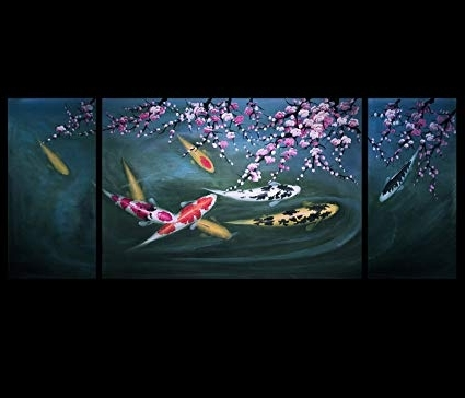 Abstract Fish Wall Art With Regard To Latest Amazon: Koi Fish Wall Art Contemporary Art Prints Abstract Art (View 7 of 15)