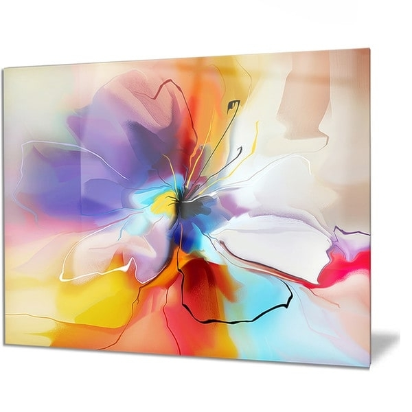 Abstract Flower Metal Wall Art Inside Recent Shop Designart 'creative Flower In Multiple Colors' Abstract Floral (View 4 of 15)