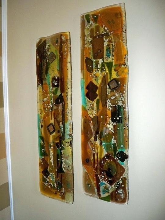 Abstract Fused Glass Wall Art Throughout Well Liked Fused Glass Wall Art Fused Glass Wall Art Panels Designer Glass (View 4 of 15)