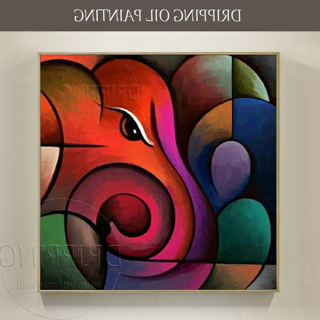 Abstract Ganesha Wall Art Regarding 2018 High Quality Wall Art Painting Abstract Ganesh Oil Painting Hand (View 4 of 15)