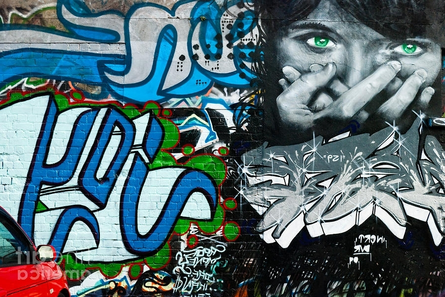 Abstract Graffiti Wall Art Regarding Current Joy Graffiti Wall Paintingyurix Sardinelly (View 8 of 15)