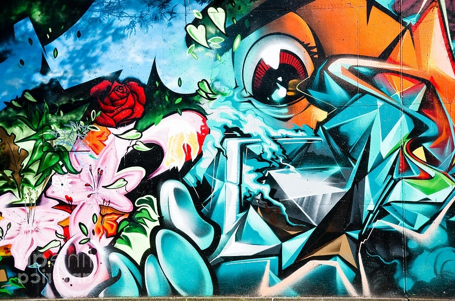 Abstract Graffiti Wall Art Regarding Most Recent Colorful Abstract Graffiti Wall Paintingyurix Sardinelly (View 6 of 15)