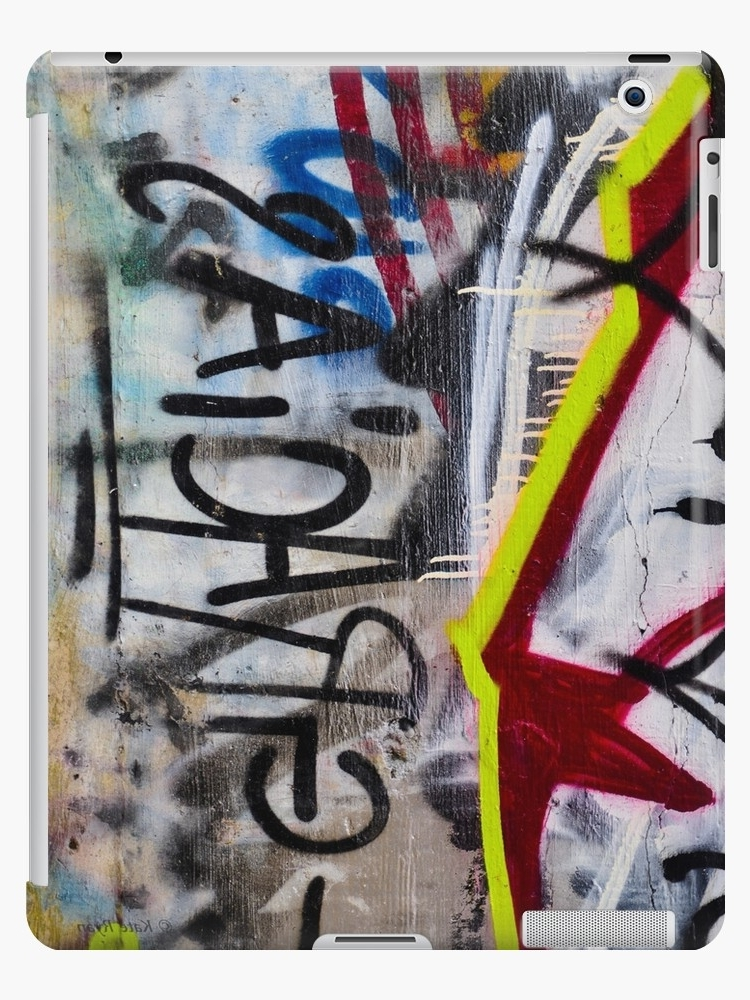 """Abstract Graffiti Wall Art Within Widely Used Abstract Graffiti Wall Art Photography – Gracias"""" Ipad Cases & Skins (View 7 of 15)"""