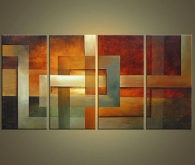 Abstract Horizon Wall Art Inside Best And Newest Bright Horizon Modern Canvas Oil Painting Wall Art With Stretched (View 8 of 15)