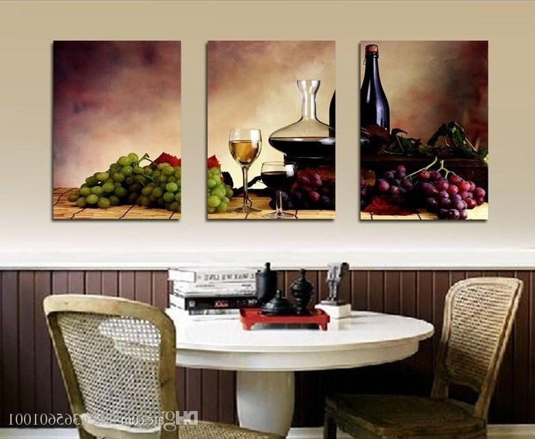 Abstract Kitchen Wall Art Inside Fashionable 2018 Modern Wall Oil Painting Abstract Wine Fruit Kitchen Wall Art (Gallery 14 of 15)