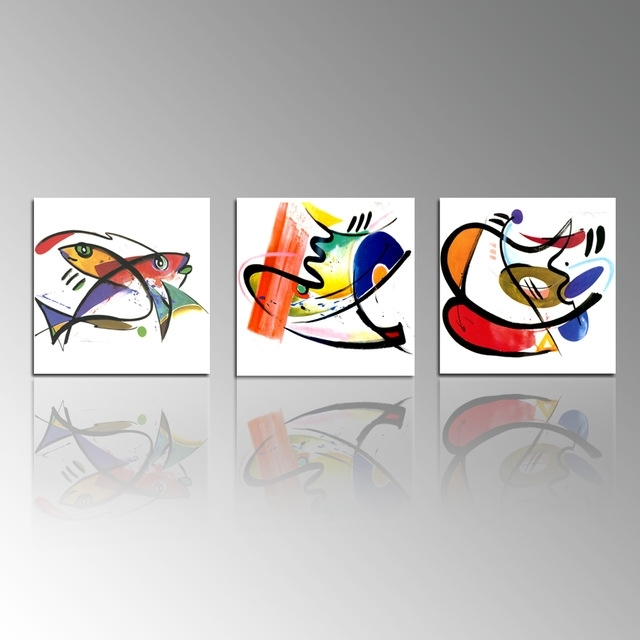 Abstract Kitchen Wall Art Regarding Widely Used Abstract Painting Print On Canvas Fish Picture Printing Kitchen Wall (Gallery 3 of 15)