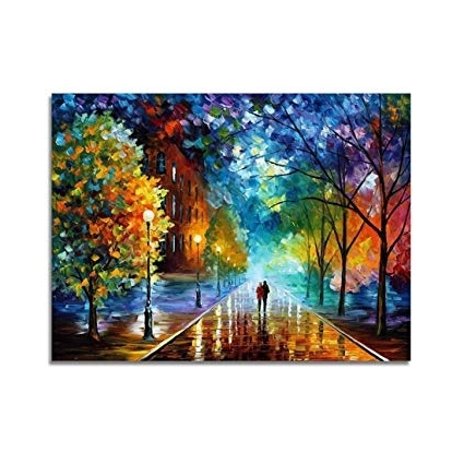 Abstract Landscape Wall Art With Regard To 2018 Amazon: V Inspire Art, 24X36 Inch Modern Abstract Landscape (Gallery 6 of 15)