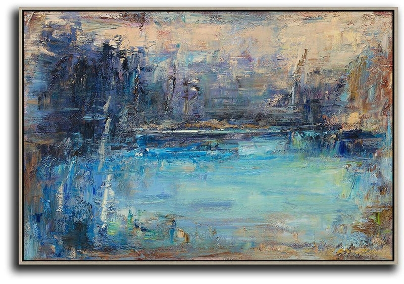 Abstract Landscape Wall Art With Regard To Well Liked Abstract Painting Extra Large Canvas Art,horizontal Abstract (View 11 of 15)