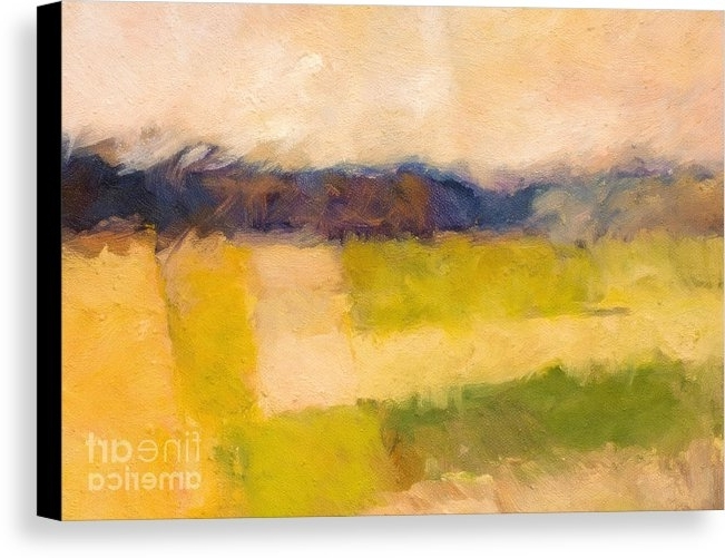 Abstract Landscape Wall Art Within Latest Landscape Abstract Impression Canvas Print / Canvas Artlutz Baar (View 6 of 15)