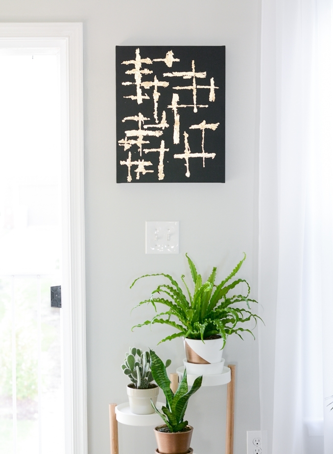 Abstract Leaves Wall Art With Regard To 2018 Make Abstract Black And Gold Leaf Canvas Art (View 2 of 15)