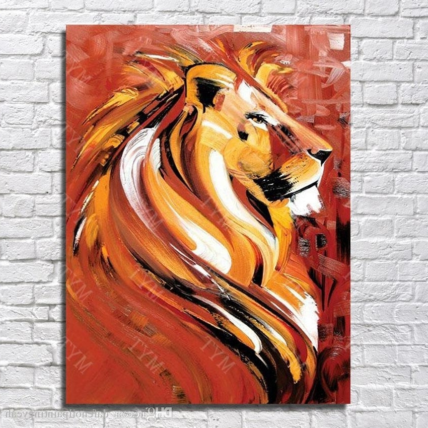 Abstract Lion Wall Art Regarding Fashionable 2018 Modern Canvas Art Abstract Lion Oil Painting For Living Room (View 10 of 15)