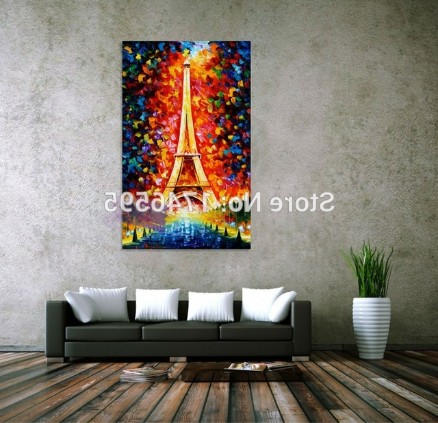Abstract Living Room Wall Art In Preferred Big Abstract Living Room Bedroom Home Wall Decor Eiffel Tower Wall (View 6 of 15)