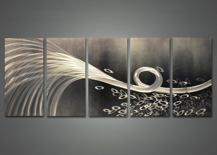 Abstract Metal Wall Art Delectable 15 Modern And Contemporary Throughout Most Recently Released Abstract Angkor Swirl Metal Wall Art (View 5 of 15)