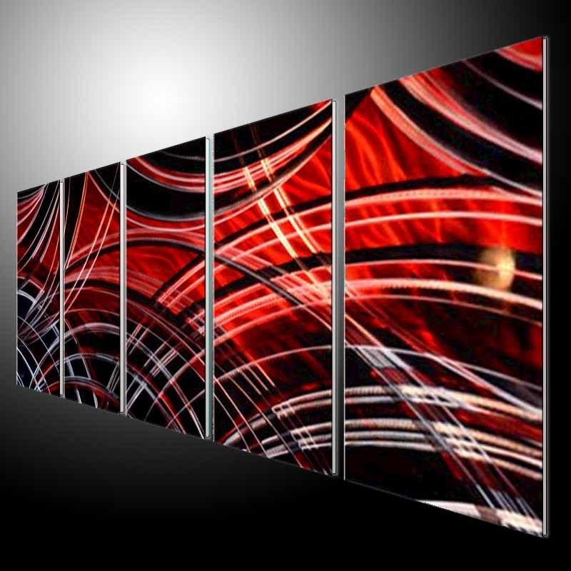 Abstract Metal Wall Art Painting With Regard To Most Recently Released Metal Wall Art Decor Metal Sculpture Wall Art Modern Hand Painted (View 7 of 15)