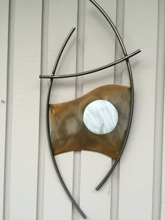 Abstract Metal Wall Art Steel Sculpture Indoor/outdoor Home Decor In Preferred Abstract Outdoor Wall Art (View 6 of 15)