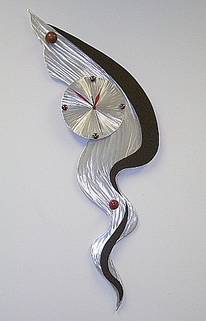 Abstract Metal Wall Art With Clock Inside Preferred Abstract Clock,abstract Clocks,abstract Wall Clock,abstract Wall (View 5 of 15)