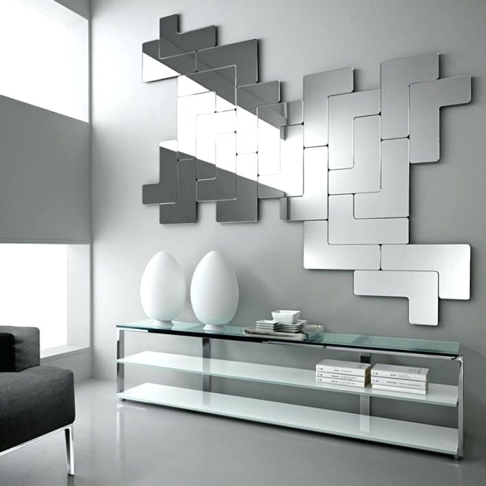 Abstract Mirror Wall Art Regarding Trendy Modern Mirrored Wall Art Image Of Modern Mirror Sets Wall Decor (View 6 of 15)