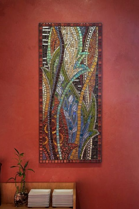 Abstract Mosaic Wall Art – Thenatureofmosaic Gretchen Mcpherson Within Fashionable Abstract Mosaic Wall Art (View 2 of 15)