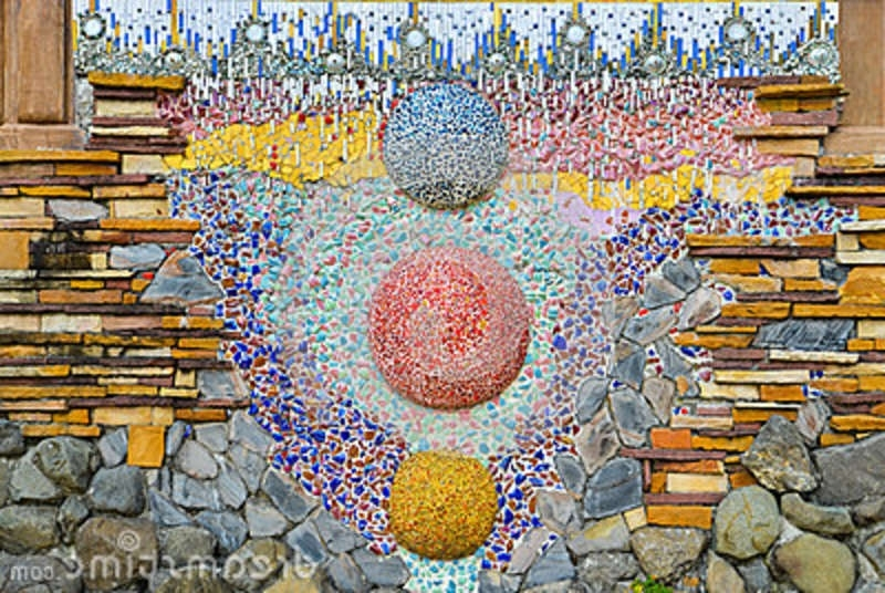 Abstract Mosaic Wall Art Within 2017 Colorful Glass Mosaic Art,abstract Wall Background. Stock Photo (Gallery 14 of 15)