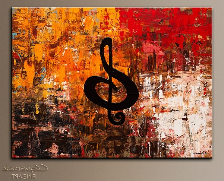 Abstract Music Wall Art Intended For Favorite Nice Jazz Wall Art Home Remodel Virtuoso Music Paintings For Sale (Gallery 10 of 15)
