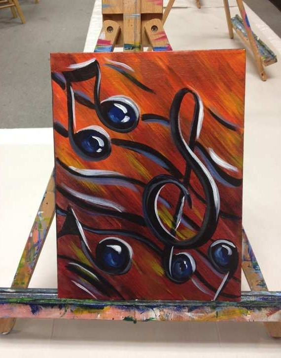 Abstract Musical Notes Piano Jazz Wall Artwork With Regard To Most Recent Music Painting Beautiful Music For The Soul Music Art Jazz Wall Art (View 7 of 15)