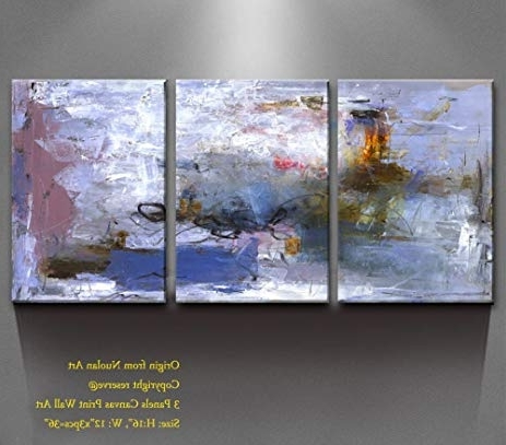"Abstract Nature Canvas Wall Art With Regard To Most Up To Date Amazon: Canvas Wall Art Multi Panels Canvas Prints "" Abstract (View 2 of 15)"