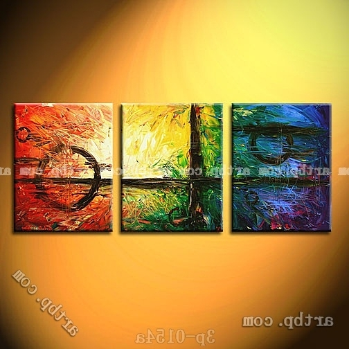 Abstract Nature Wall Art With Preferred Weighed In The Balance Oil Painting On Canvas Abstract Nature (View 5 of 15)