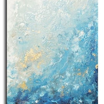 Abstract Ocean Wall Art For Current Shop Large Abstract Ocean Canvas Art On Wanelo (View 2 of 15)